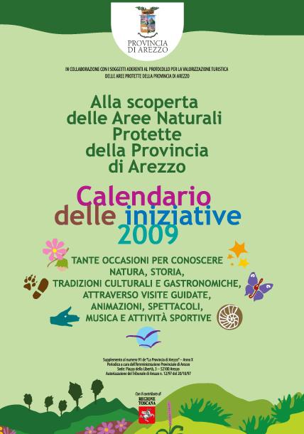 Calendario iniziative nelle Aree Naturali protette della Provincia di Arezzo