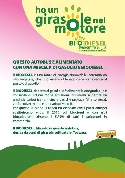 Campagna di sensibilizzazione sull'uso dei biocombustibili negli automezzi pubblici a Siena