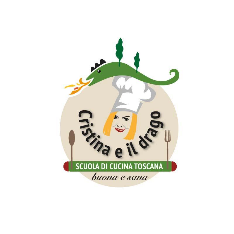 """Logo della scuola di Cucina """"Cristina e il Drago"""""""