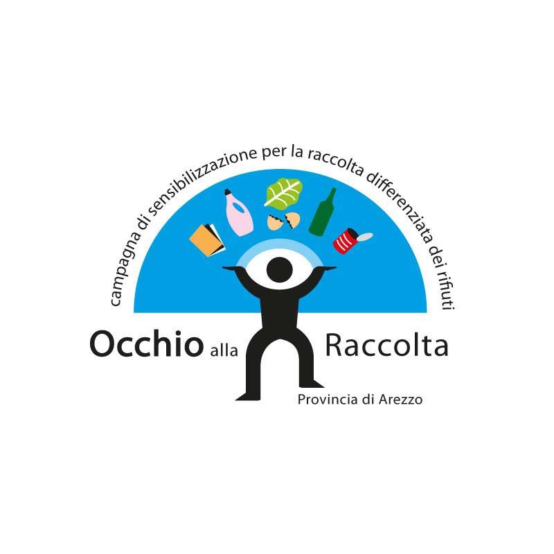 Logo della campagna di sensibilizzazione sulla raccolta differenziata dei rifiuti solidi urbani della Provincia di Arezzo