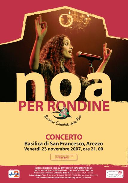 Concerto della cantante NOA per Rondine Cittadella della Pace