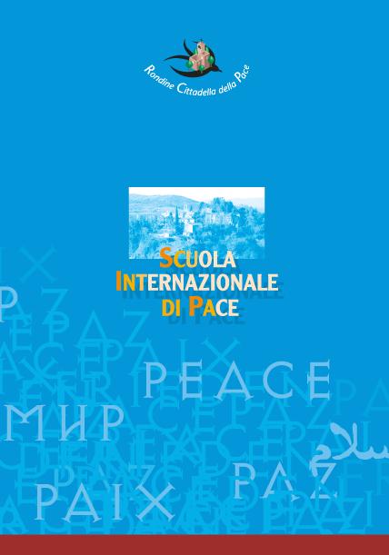 Cartellina della Scuola Internazionale di Pace _ Rondine  Cittadella della Pace
