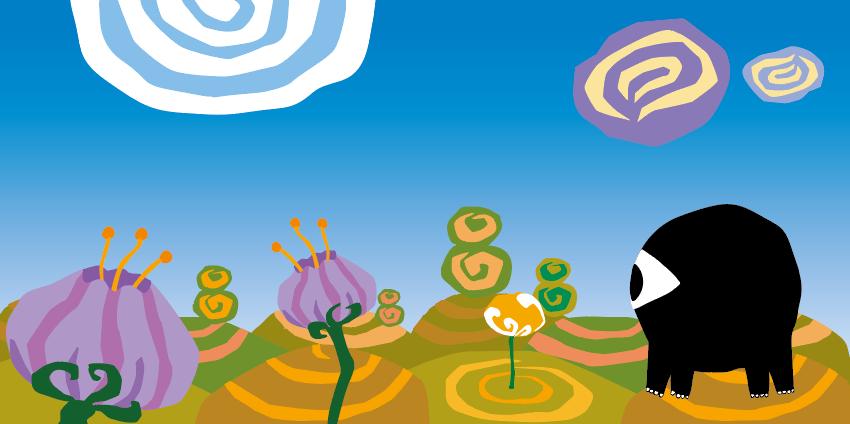 """illustrazione estratta dalla storia """"Il mondo di Dondo"""""""